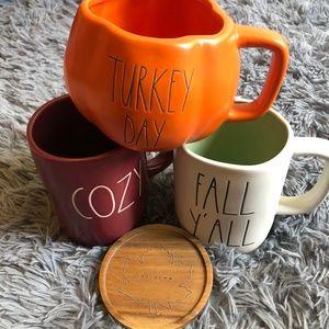 Rae Dunn Fall/Halloween Set of Mug Bundle NWT
